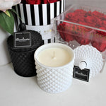 Infinite Rose | Luxury Soy Candles | Deluxe Collection in Matte White
