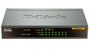 D-Link DES-1008PA 8-Port 10/100Mbps PoE Switch