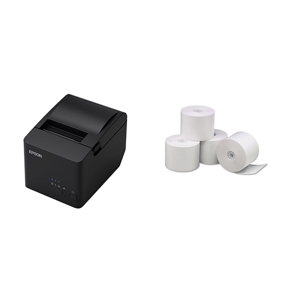 Epson TM-T82IIIL Receipt Printer USB/SER with Paper rolls bundle