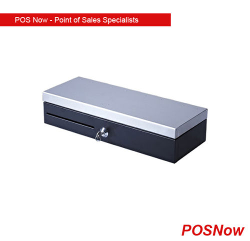 POSBox BT100 Flip Top Electronic Cash Drawer – Stainless Steel Top