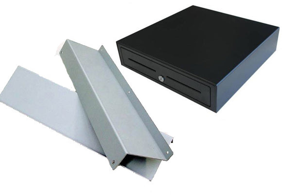 VPOS Heavy Duty Electronic Cash Drawer & Mounting Brackets Combo