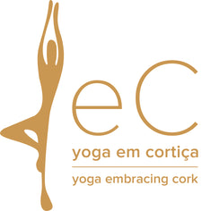 Yoga embracing cork logo