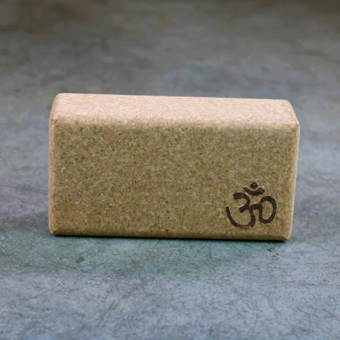 Cork Yoga Block with OM symbol