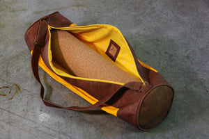 Yoga Cork Mat Bag in Saffron-Orange Color