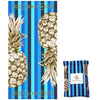 Recycled Plastic Gold Pineapple Compact, Sand Free, Fast Drying Beach/Travel Towel- 'Ocean'