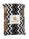Recycled Plastic Gold Pineapple Compact, Sand Free, Fast Drying Beach/Travel Towel- 'Coco Chevron'