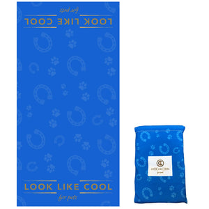 Recycled Plastic Compact, Fast Drying XL Pet Towel- Azure Blue