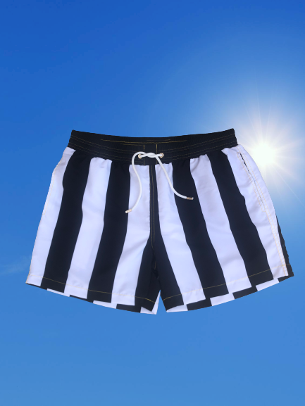 Coco Black Recycled Plastic Towel and Swim Short Set