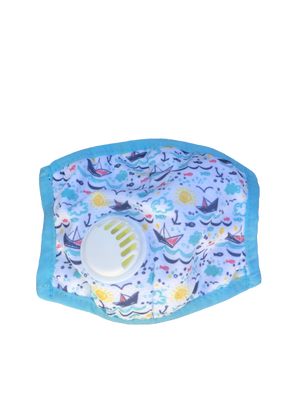 Kids Breathable Nautical Dreams Mask with Filter