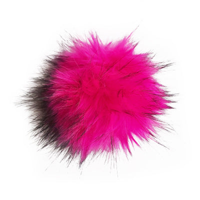 Faux Fur Hot Pink Pom Pom
