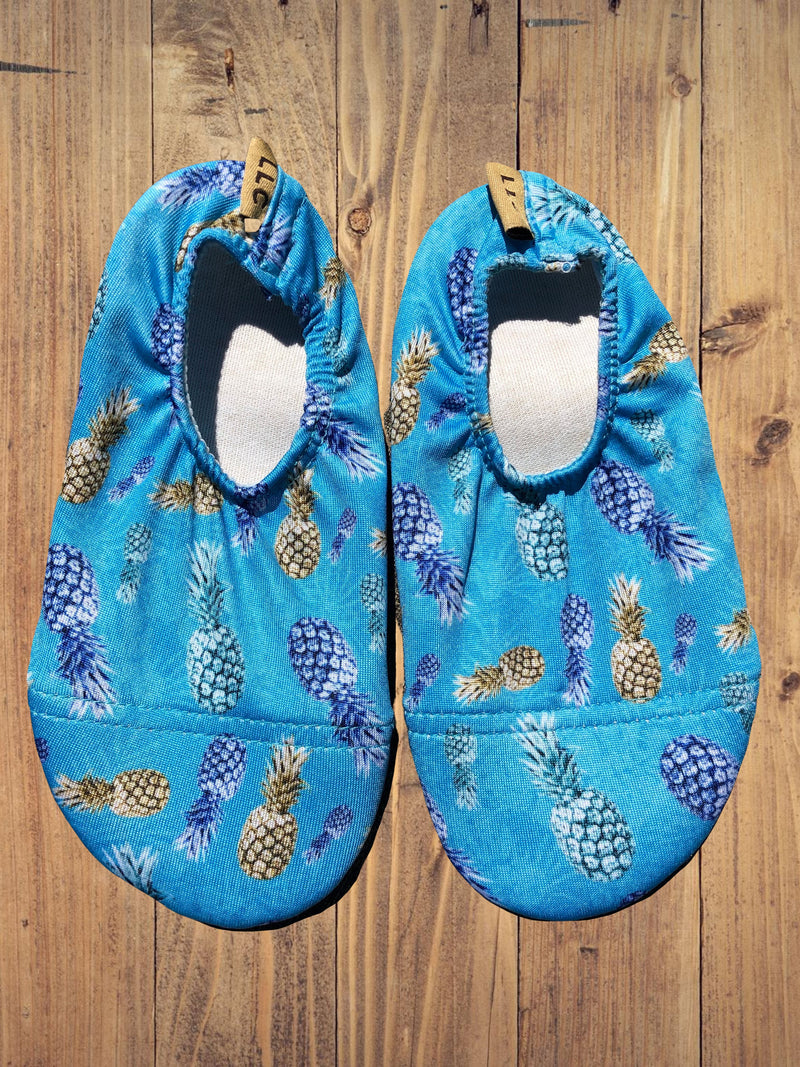 Non Slip, Heat Resistant Shoes- 'Blue Pineapple'