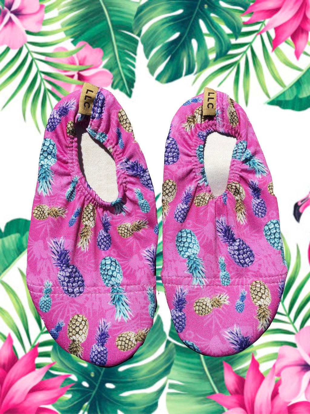 Non Slip, Heat Resistant Shoes- 'Pink Pineapple'