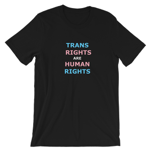 TRANS RIGHTS ARE HUMAN RIGHTS T-shirt (black)