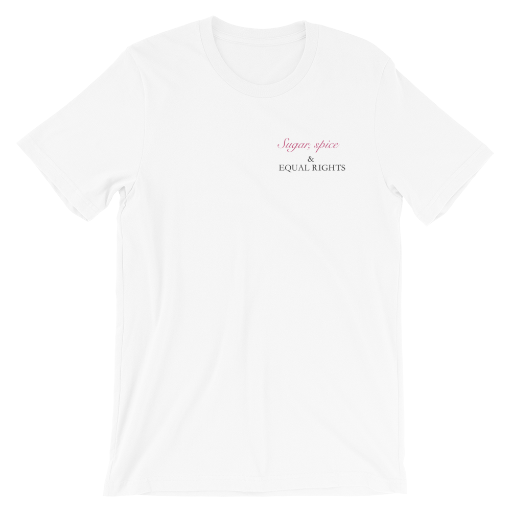 SUGAR, SPICE AND EQUAL RIGHTS - Tee (white) | Feminism | SAMA Apparel