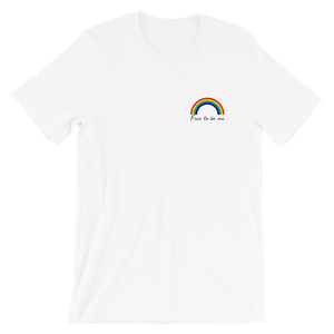 FREE TO BE ME - Rainbow LGBTQIA white T-shirt | SAMA Apparel