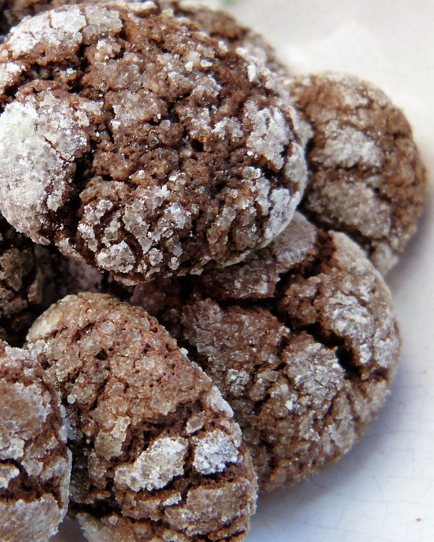 Chewy cookie crumbs