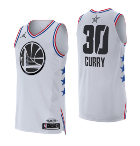 sports shoes 6a454 e293a Black/White Golden State Warriors Steph Curry - All Star 2019 Jersey