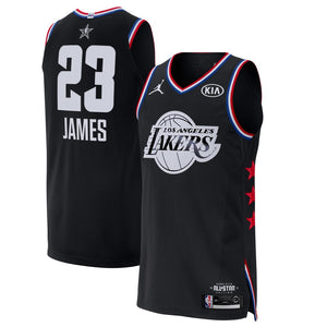 separation shoes 53292 e4ca2 Black/White Los Angeles Lakers Lebron James - All Star 2019 Jersey