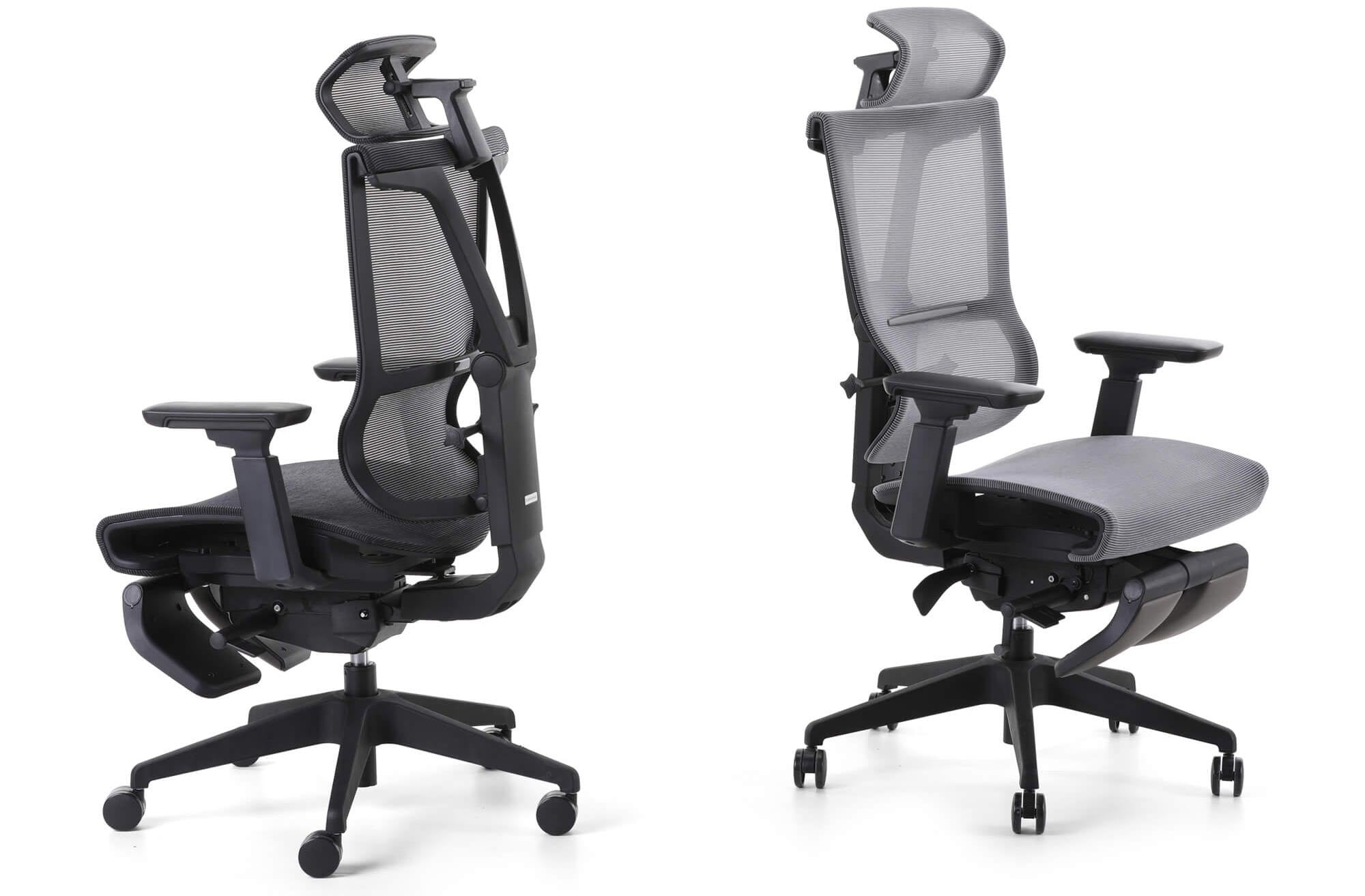 gray office chairs