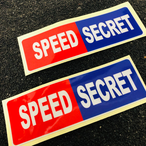 【熱賣】Speed Secret 貼紙