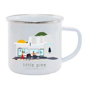 "little pine ""saturday morning"" enamel mug"