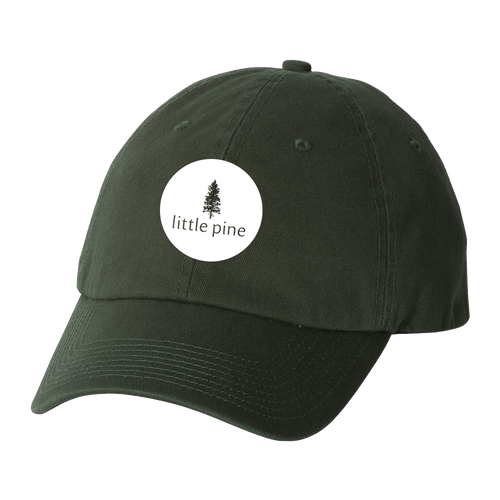 little pine circle logo dad hat