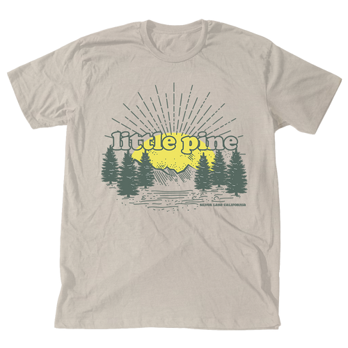 little pine forest sunrise unisex tee