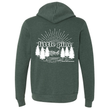 Load image into Gallery viewer, little pine forest unisex zip hoodie back