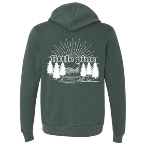 little pine forest unisex zip hoodie back