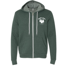 Load image into Gallery viewer, little pine forest unisex zip hoodie front