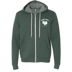 little pine forest unisex zip hoodie front