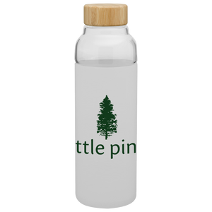 logo reusable glass water bottle