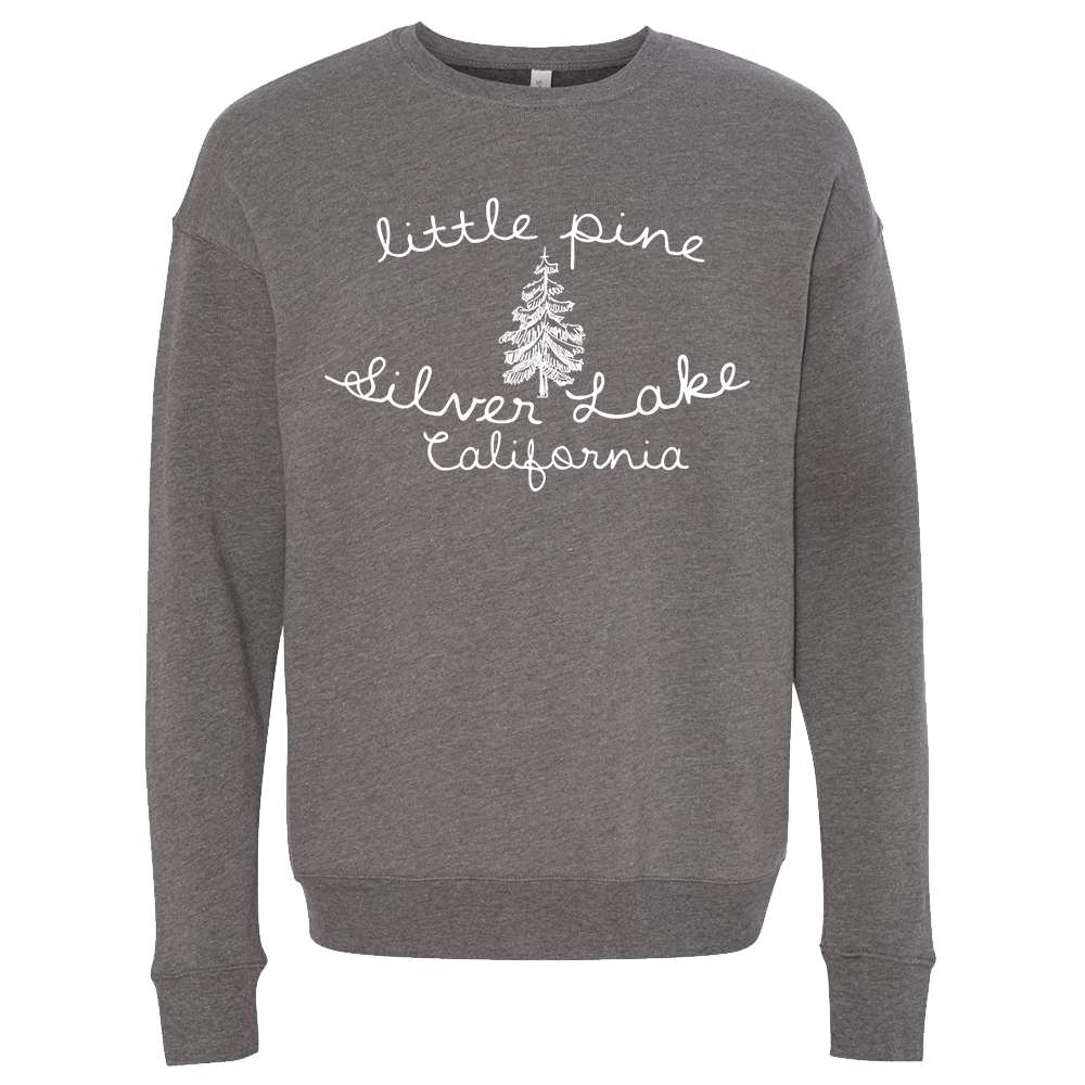 little pine cursive script unisex fleece