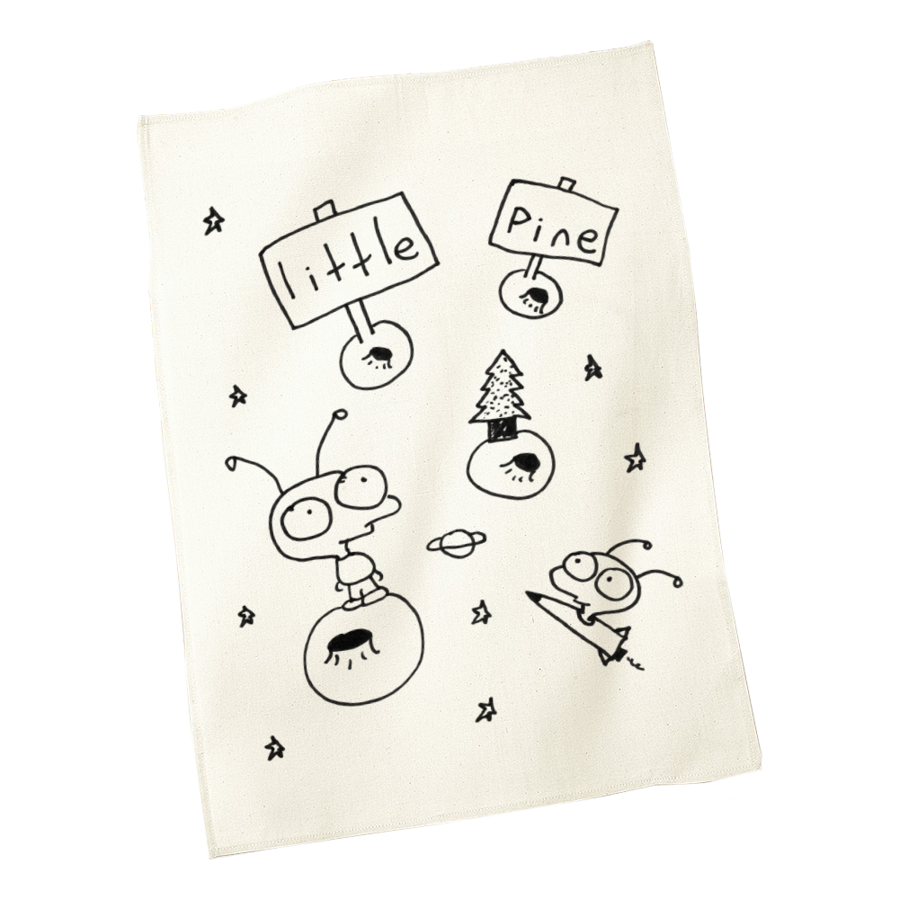 little pine little idiot tea towel