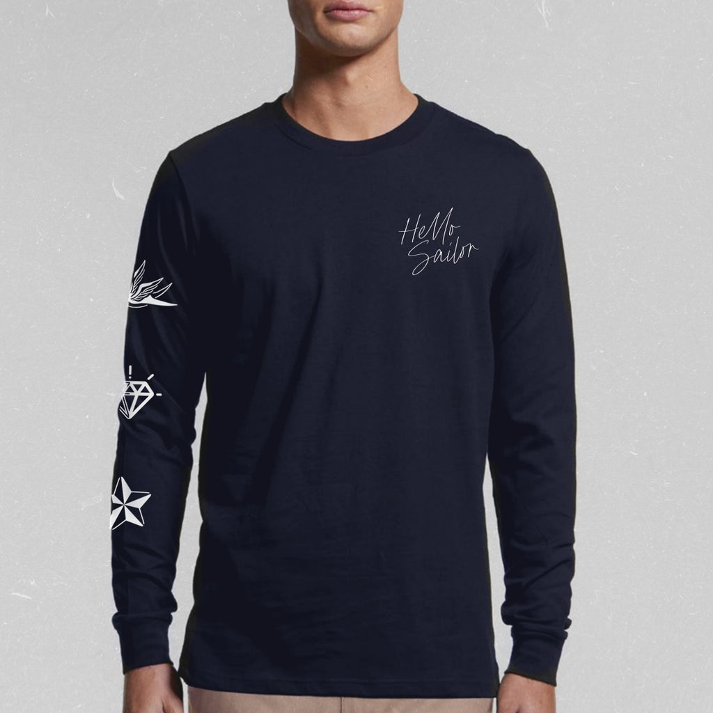 Men's Long-Sleeved Motif Tee