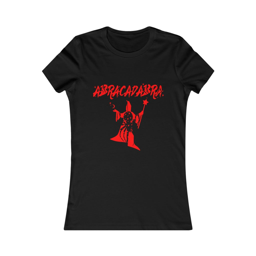 Adult Women's Red ABRACADABRA T Shirt