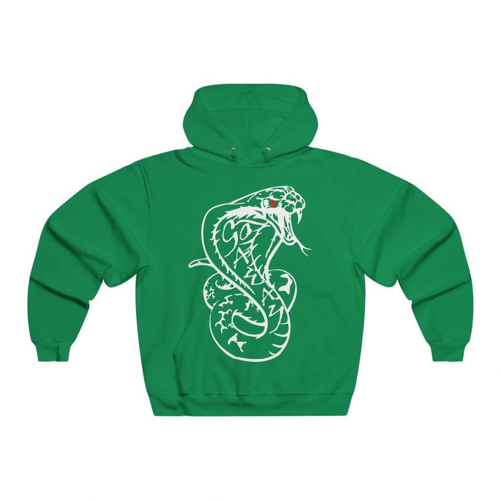 Adult Men's Go Away Snake in white Hoodie