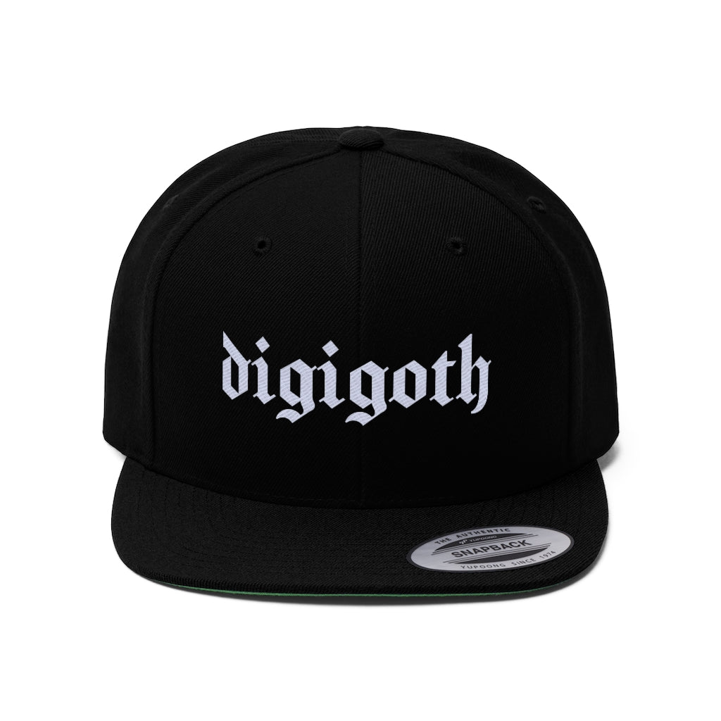 DIGIGOTH OFFICAL Unisex Flat Bill Hat