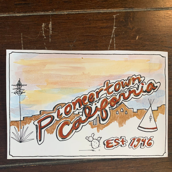 Hand-painted Post Card By Bonnie Brooks