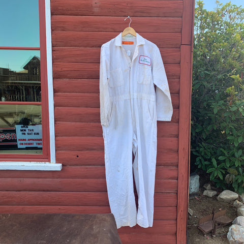 Vintage White Dixon Tom-A-Toe Coveralls