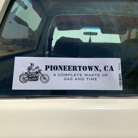 Pioneertown Review Bumper Sticker