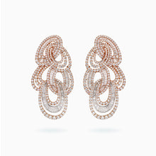 Load image into Gallery viewer, 18K White & Rose Gold Diamond Earring