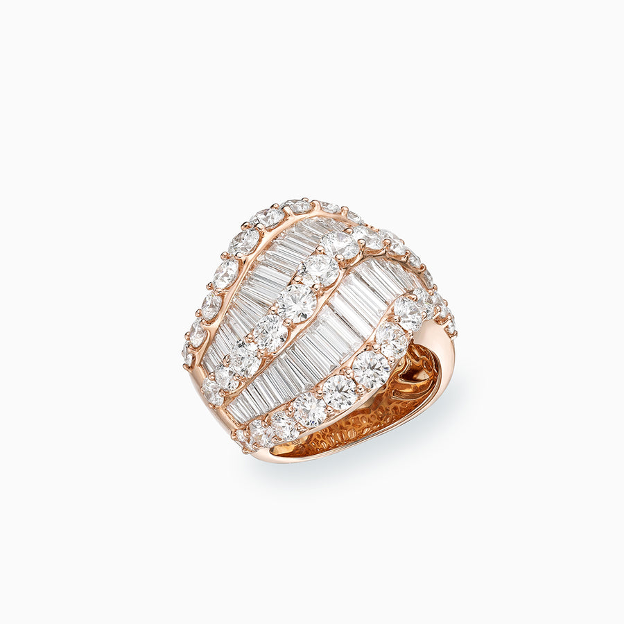 18K White & Rose Gold Diamond Ring