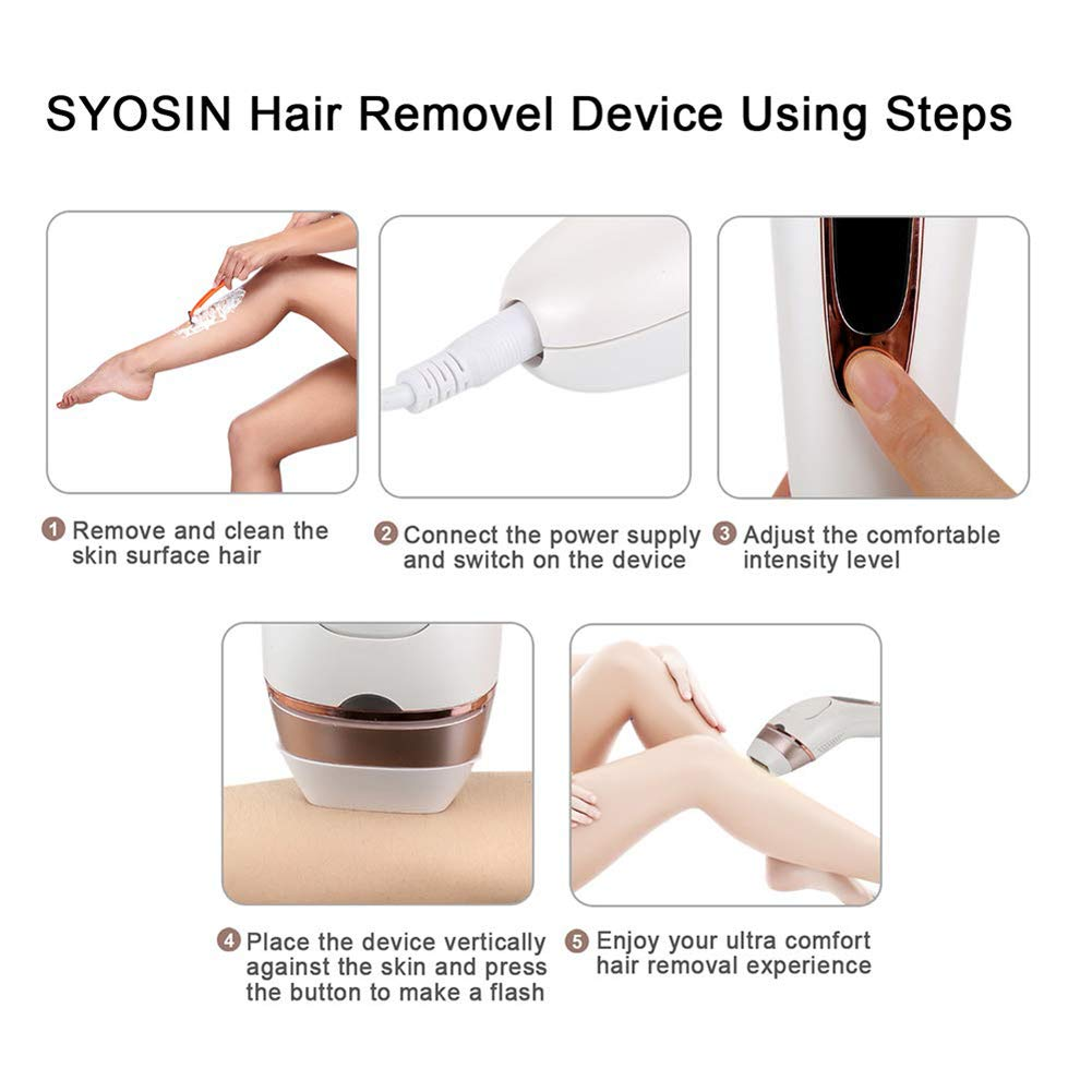Hair Removal System Epilator,For Body Face Bikini Area Underarms IPL  Technology A Home Machine For Women