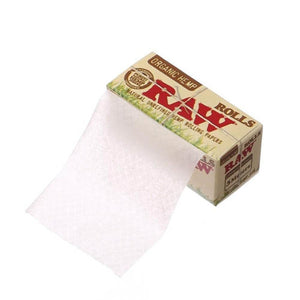 RAW Organic Hemp Rolls King Size Rolling Paper 5 Meter Roll (Display of 24)