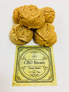 Peanut Butter CBD Dog Biscuits