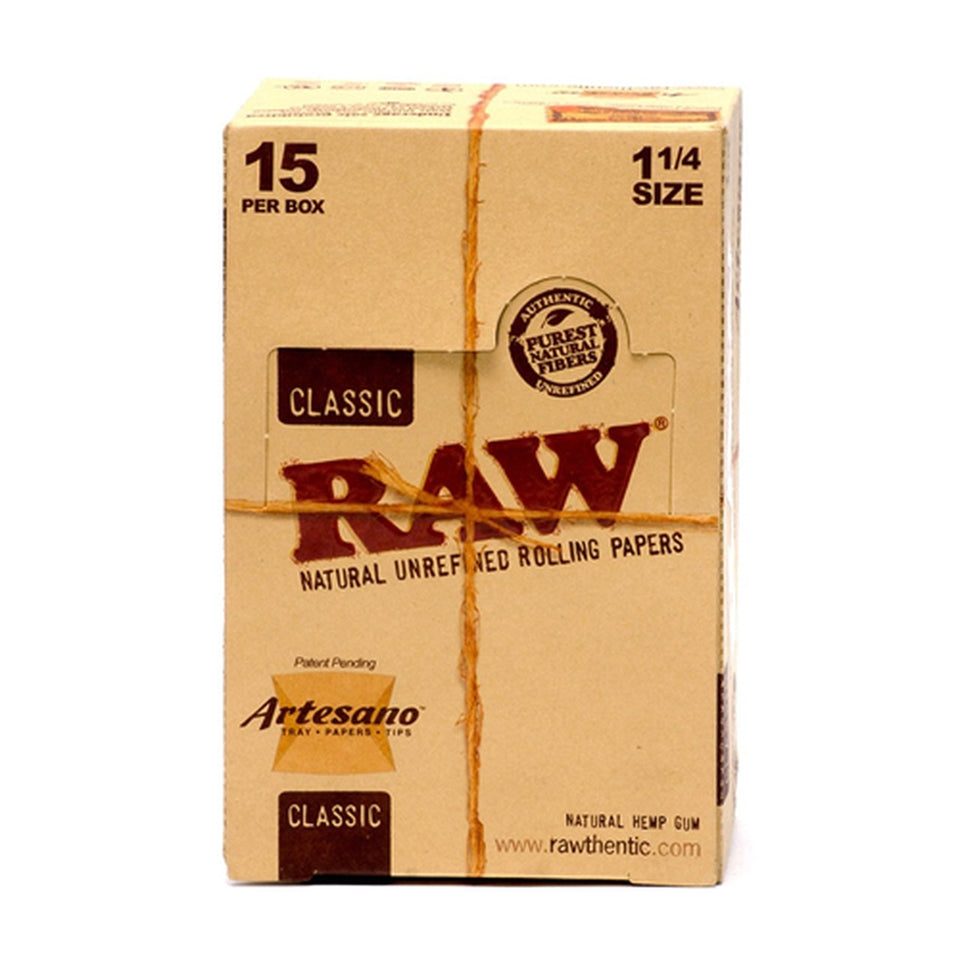 Raw Classic Artesano Rolling Papers 1 1/4 (Display of 15)