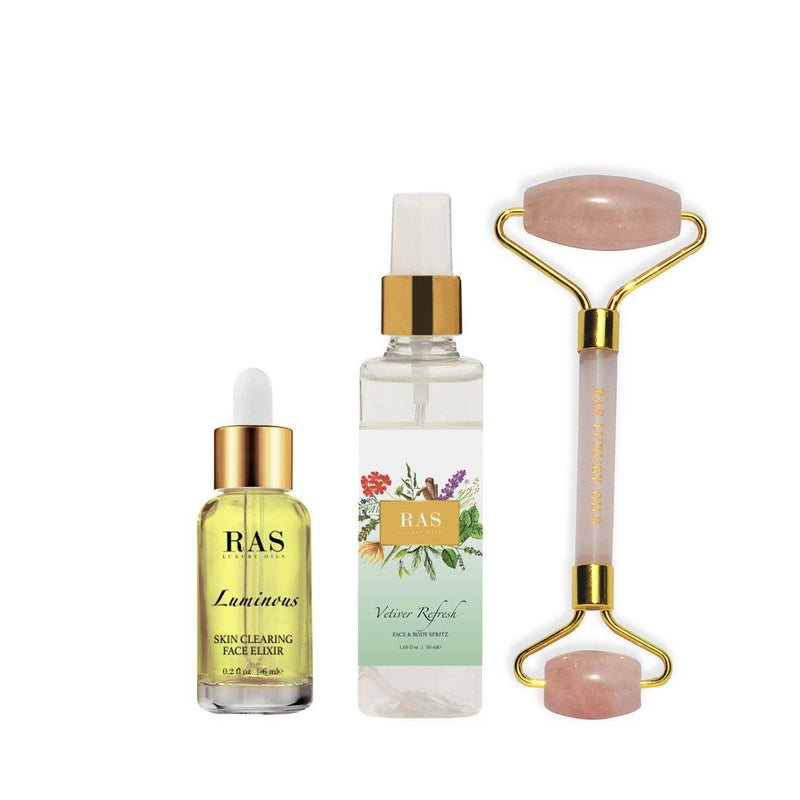 Clear skin ritual kit for oily acne prone skin