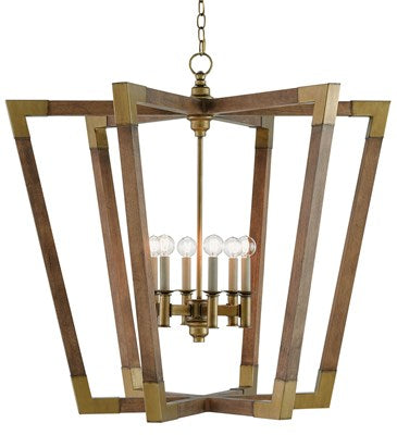 Wood and Gold Lantern