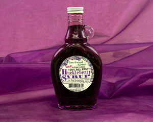 All Fruit, Wild Harvested, Organic Ingredient Huckleberry Syrup